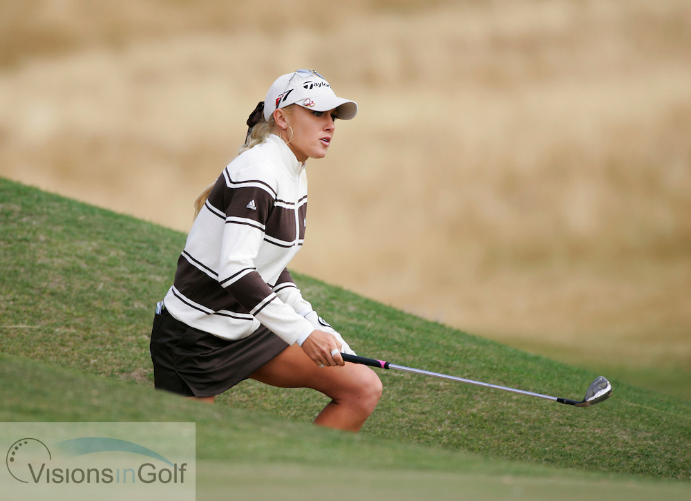 Natalie Gulbis on the second day.<br /> Weetabix Womens British Open 2006, Royal Lytham St. Annes, 040806<br /> Picture Credit: Mark Newcombe / visionsingolf.com