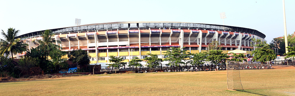 General view of outside the stadium during match 39 of the Indian Super League (ISL) season 2  between FC Goa and Mumbai City FC held at the Jawaharlal Nehru Stadium, Fatorda, Goa, India on the 17th November 2015.<br /> <br /> Photo by Sandeep Shetty / ISL/ SPORTZPICS
