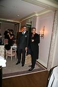 DAVID WALLIAMS AND MARIO TESTINO, Dinner hosted by Elizabeth Saltzman for Donatella Versace. Claridge's Hotel, Brook Street, Mayfair, London. 11 March 2008.  *** Local Caption *** -DO NOT ARCHIVE-© Copyright Photograph by Dafydd Jones. 248 Clapham Rd. London SW9 0PZ. Tel 0207 820 0771. www.dafjones.com.