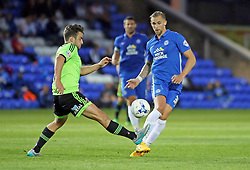 Jack Collison of Peterborough United in action with Jose Baxter of Sheffield United - Mandatory byline: Joe Dent/JMP - 07966386802 - 18/08/2015 - FOOTBALL - ABAX Stadium -Peterborough,England - Peterborough United v Sheffield United - Sky Bet League One