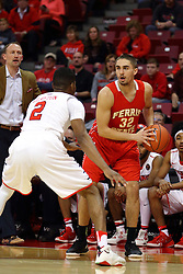 26 November 2016:  DJ Clayton(2) holds Peter Firlik outside during an NCAA  mens basketball game between the Ferris State Bulldogs the Illinois State Redbirds in a non-conference game at Redbird Arena, Normal IL