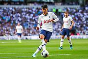 Tottenham Hotspur forward Heung-Min Son (7) during the Premier League match between Tottenham Hotspur and Crystal Palace at Tottenham Hotspur Stadium, London, United Kingdom on 14 September 2019.