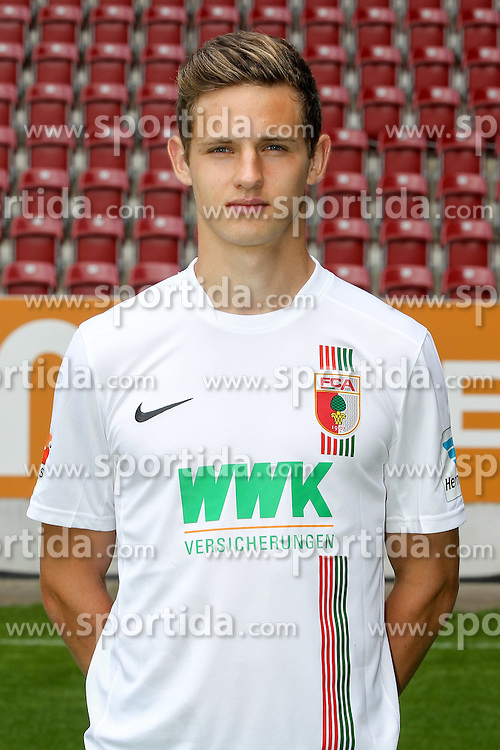 08.07.2015, WWK Arena, Augsburg, GER, 1. FBL, FC Augsburg, Fototermin, im Bild Marco Schuster #29 (FC Augsburg) // during the official Team and Portrait Photoshoot of German Bundesliga Club FC Augsburg at the WWK Arena in Augsburg, Germany on 2015/07/08. EXPA Pictures &copy; 2015, PhotoCredit: EXPA/ Eibner-Pressefoto/ Kolbert<br /> <br /> *****ATTENTION - OUT of GER*****