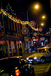 The Golden Mile at night, Melton Road, Leicester, England, United Kingdom.