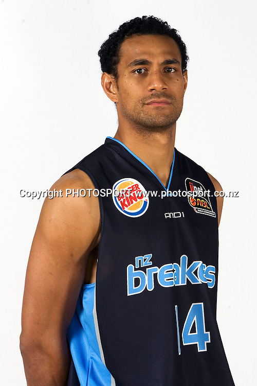 Mika Vukona, New Zealand Breakers headshots for the 2010 ANBL basketball season. Breakers Gym, North Shore, Auckland. 24 September 2010. Photo: William Booth/photosport.co.nz