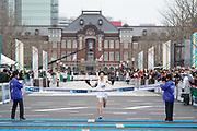 Yuta Shitara (JPN) places second in a national record 2:06:11 in the Tokyo Marathon in Tokyo, Sunday, Feb. 25, 2018. (Jiro Mochizuki/Image of Sport)