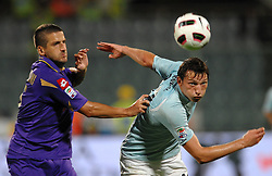 18.09.2010, Stadio Artemio Franchi, Florenz, ITA, Serie A, AC Florenz vs Lazio Rom, im BildMauro GAMBERINI Fiorentina, Libon KOZAK Lazio.EXPA Pictures © 2010, PhotoCredit: EXPA/ InsideFoto/ Andrea Staccioli +++++ ATTENTION - FOR USE IN AUSTRIA / AUT AND SLOVENIA / SLO ONLY +++++... / SPORTIDA PHOTO AGENCY