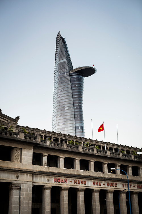 The Bitexco Tower in downtown Ho Chi Minh City, Vietnam.