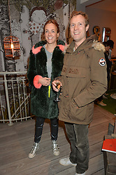 MR CHARLES & LADY LOUISE VAUGHAN at a Fondue evening hosted by Rose van Cutsem and her brother Tom Astor to celebrate the new ski Season with leading ski resort Meribel, Besson Clothing and ESF ski schools at Maggie & Rose, 58 Pembroke Road, London on 7th November 2016.