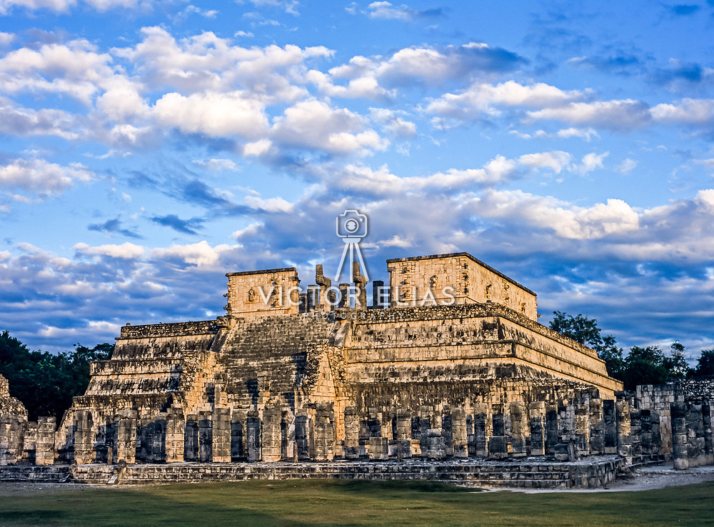 Chichen Itza # 10 Warriors temple at Chichen Itza. Yucatan, Mexico.