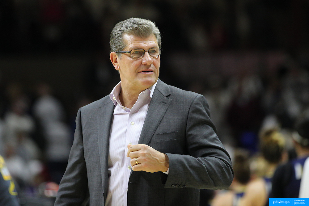 Head Coach Geno Auriemma, UConn, during the Notre Dame Vs UConn Women's Basketball game at Grampel Pavilion, Storrs, Connecticut, USA. 5th December 2015. Photo Tim Clayton