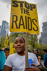April 27, 2017 - New York, NY, United States - Family members of people impacted by NYPD and federal ''gang'' raids and grassroots community groups held a rally April 27th, 2017; at City Hall steps followed by a march to the U.S. Attorney's Office and MCC prison to protest against the NYPD and federal ''gang'' raids that are devastating communities of color across the city as well as the prison system. (Credit Image: © Erik Mcgregor/Pacific Press via ZUMA Wire)