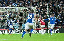 27.02.2011, Wembley Stadium, London, ENG, Carling Cup, Finale, Arsenal FC vs Birmingham City, im Bild Birmingham City's Obafemi Martins scores to make it 2-1 during the Football League Cup Final match at Wembley Stadium, EXPA Pictures © 2011, PhotoCredit: EXPA/ Propaganda/ Gareth Davies *** ATTENTION *** UK OUT!