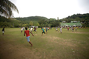 Rugby game, Kioa Island, Fiji, Melanesia, South Pacific
