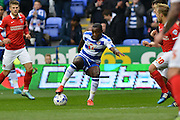 Reading's Ola John on the attack during the Sky Bet Championship match between Reading and Charlton Athletic at the Madejski Stadium, Reading, England on 17 October 2015. Photo by Mark Davies.