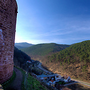 One of the largest castles in the Rheinlad-Pfalz, Hardenburg was situated to control this road, as it was an important trading route from the time of the castle's origin in 1214.