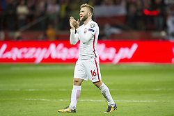 October 8, 2017 - Warsaw, Poland - Jakub Blaszczykowski of Poland thanks his fans after  the FIFA World Cup 2018 Qualifying Round Group E match between Poland and Montenegro at National Stadium in Warsaw, Poland on October 8, 2017  (Credit Image: © Andrew Surma/NurPhoto via ZUMA Press)