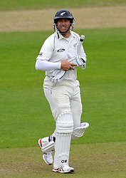 Dejection for New Zealand's Ross Taylor after being dismissed for 10. Photo mandatory by-line: Harry Trump/JMP - Mobile: 07966 386802 - 10/05/15 - SPORT - CRICKET - Somerset v New Zealand - Day 3- The County Ground, Taunton, England.