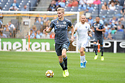 Keaton Parks of the New York City FC  during a MLS soccer game against the San Jose Earthquakes, Saturday, Sept. 14, 2019, in New York.NYCFC defeated San Jose Earthquakes 2-1.(Errol Anderson/Image of Sport)