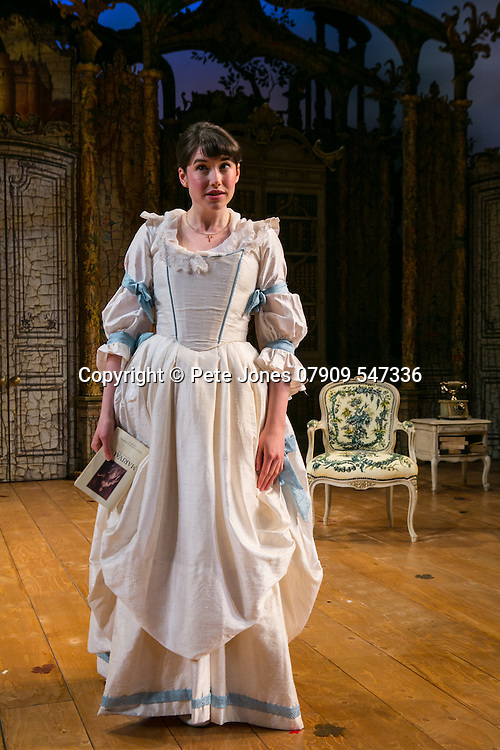 The Rehearsal by Jean Anouilh;<br /> Directed by Jeremy Sams;<br /> Gabrielle Dempsey as Lucille;<br /> Minerva Theatre, Chichester;<br /> 13 May 2015