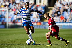 Reading Midfielder Hope Akpan (ENG) is challenged by Derby Forward Jamie Ward (NIR) - Photo mandatory by-line: Rogan Thompson/JMP - 07966 386802 - 15/09/2014 - SPORT - FOOTBALL - Madejski Stadium - Reading - Reading v Derby County - Sky Bet Football League Championship.