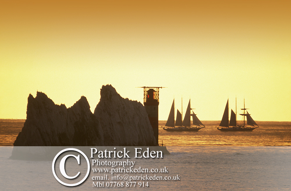 The Needles Malcom Miller. Sir Winston Churchill Sail training Vessels Photographs of the Isle of Wight by photographer Patrick Eden photography photograph canvas canvases