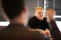 Jón Gnarr, the Mayor of Reykjavík meeting with members of the German Piraten Partei.