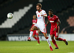 Milton Keynes Dons' Ed Upson during the Carabao Cup, Second Round match at Stadium MK, Milton Keynes.