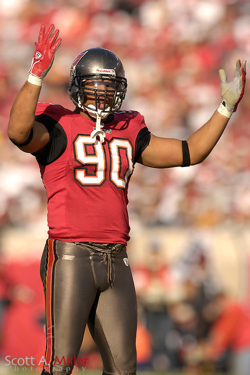 Nov. 19, 2006; Tampa, FL, USA;  Tampa Bay Buccaneers defender (90) Dewayne White in action against the Washington Redskins at Raymond James Stadium. ...©2006 Scott A. Miller