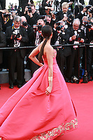 Freida Pinto at the The Homesman gala screening red carpet at the 67th Cannes Film Festival France. Sunday 18th May 2014 in Cannes Film Festival, France.