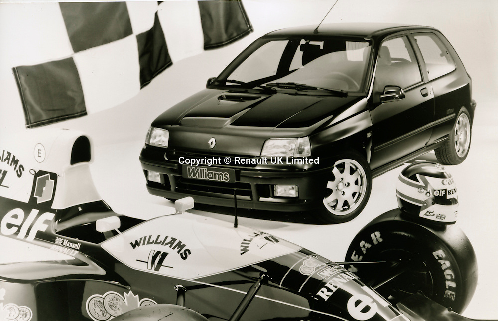 Renault Clio Williams (front), model 1993 with Nigel Mansells F1 car
