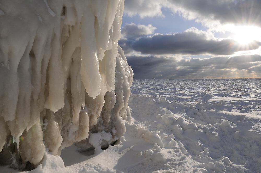 Frozen Lake Michigan