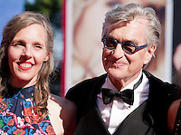 Donata Wenders, director Wim Wenders, at the premiere of the film Les Beaux Jours d'Aranjuez (The Beautiful Days of Aranjuez) at the 73rd Venice Film Festival, Sala Grande on Thursday September 1st 2016, Venice Lido, Italy.