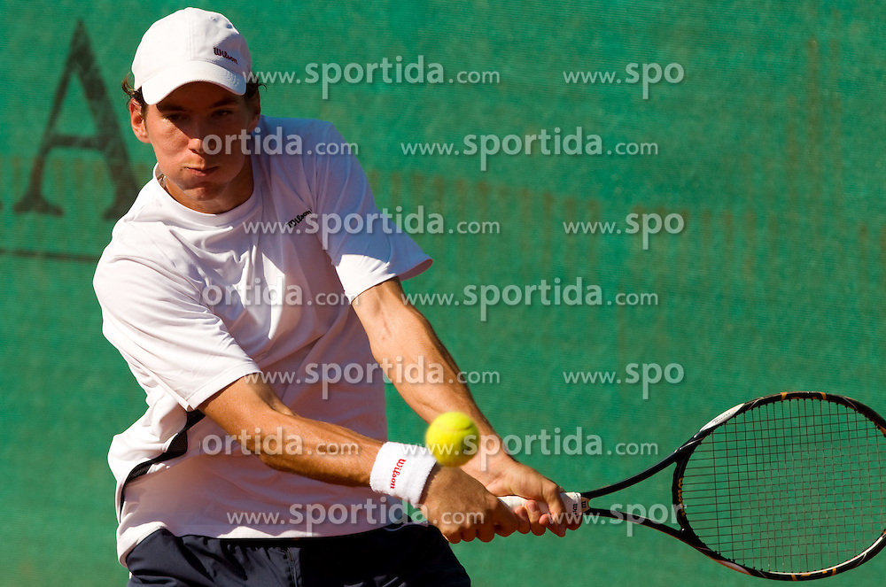 Janez Semrajc - Johnny of Slovenia plays during day one of the ATP Challenger  BMW Ljubljana Open 2010, on September 21, 2010,  in TC Ljubljana Siska, Slovenia.  (Photo by Vid Ponikvar / Sportida)
