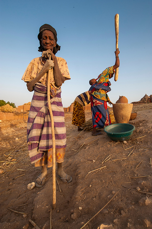 In the village of Garadawa, near Keita, Niger.  One of the villages where the Project Keita has been restoring soil.  Most of the work has been done by the women of the area.