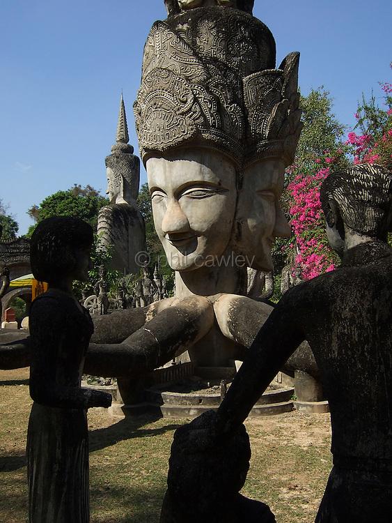 Sala Kaew Ku Sculpture Park, giant sculptures in Hindu Buddhist style. Nong Khai, Thailand Asia