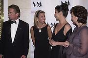 Michael Douglas, Lady Meyer, Catherine Zita Jones, and Cherie Blair. ICMEC Gala launch. Savoy. 5 October 2000.  © Copyright Photograph by Dafydd Jones 66 Stockwell Park Rd. London SW9 0DA Tel 020 7733 0108 www.dafjones.com