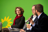 DEU, Deutschland, Germany, Berlin, 23.11.2018: Daniela Schwarzer, Director of the German Council on Foreign Relations - Research Institute, Prof. Dr. Peter Bofinger, Member of the German Council of Economic Experts, Jordi Vaquer, Regional Director for Europe of Open Society Foundation. Council of the European Green Party (EGP council) at Deutsche Telekom Representative Office.