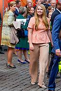 27-4-2018 GRONINGEN - King Willem Alexander and queen Maxima and princess Amalia , Ariane and Alexia during kings day 2018 . Princess Laurentien  prince Constantijn , Princess Marilene prince Maurits , princess Anita and prince Floris ,<br /> Prince Constantine and Princess Laurentien, Prince Maurits and Princess Marilene, Prince Bernhard and Princess Annette, Prince Pieter-Christiaan and Princess Anita and Prince Floris and Princess Aim&eacute;e   Copyright robin Utrecht