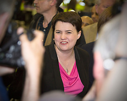 Scottish Parliament Election 2016 Royal Highland Centre Ingliston Edinburgh 05 May 2016; Ruth Davidson (Scottish Conservative leader) arrives during the Scottish Parliament Election 2016, Royal Highland Centre, Ingliston Edinburgh.<br /> <br /> (c) Chris McCluskie | Edinburgh Elite media
