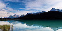 Lingering light at Waterfowl Lakes in Banff National Park, Alberta, Canada