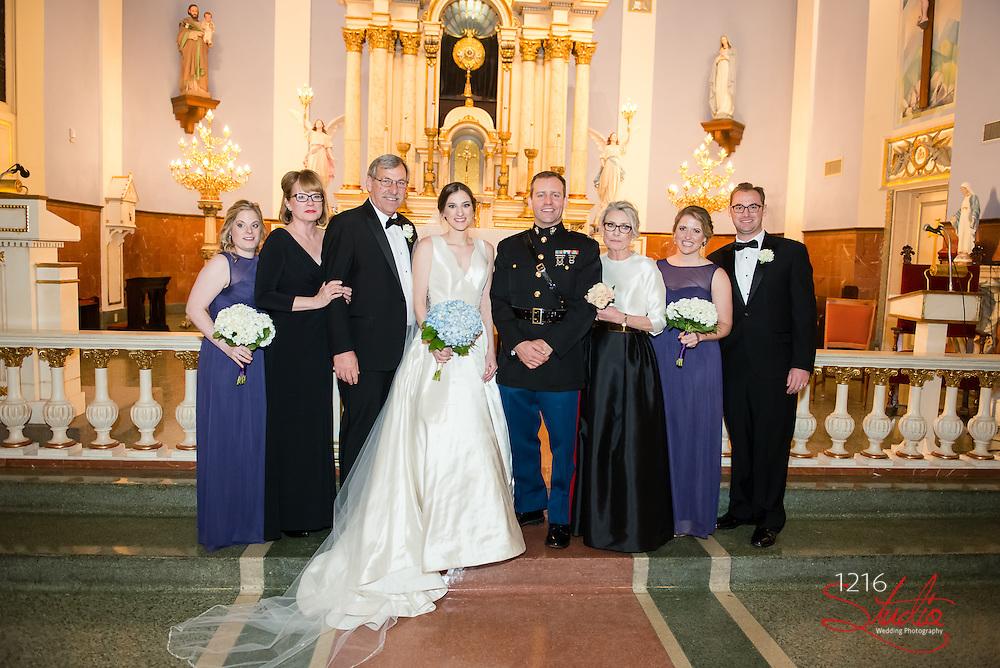 Matthew & Erin Wedding Sample Album | St. Mary's Church & Ursuline Convent | 1216 Studio Wedding Photography