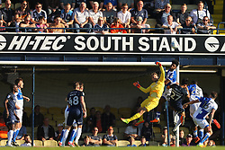 Sam Slocombe of Bristol Rovers punches the ball clear during a Southend United attack - Mandatory by-line: Richard Calver/JMP - 05/05/2018 - FOOTBALL - Roots Hall - Southend-on-Sea, England - Southend United v Bristol Rovers - Sky Bet League One