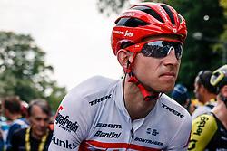 Bauke Mollema (NED) of Trek - Segafredo (USA,WT,Trek)after stage 1 from Bruxelles to Brussel of the 106th Tour de France, 6 July 2019. Photo by Pim Nijland / PelotonPhotos.com | All photos usage must carry mandatory copyright credit (Peloton Photos | Pim Nijland)