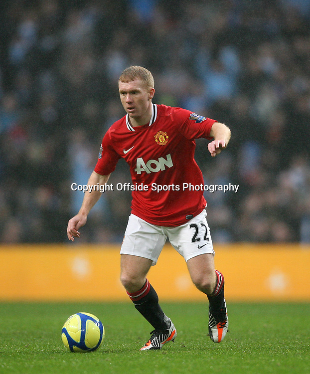 08/01/2012 - FA Cup 3rd Round - Manchester City vs. Manchester United - Paul Scholes of Man Utd - Photo: Simon Stacpoole / Offside.