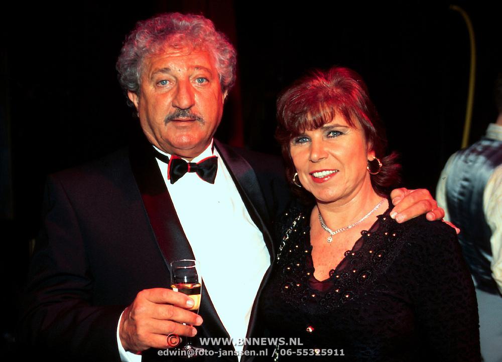 Premiere Singing in the Rain Rotterdam, Hans Boskamp en vrouw Tine