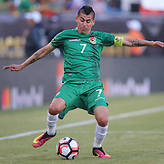 FOXBOROUGH, MASSACHUSETTS - JUNE 10:  Juan Carlos Arce #7 of Bolivia in action during the Chile Vs Bolivia Group D match of the Copa America Centenario USA 2016 Tournament at Gillette Stadium on June 10, 2016 in Foxborough, Massachusetts. (Photo by Tim Clayton/Corbis via Getty Images)