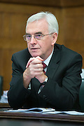 John McDonnell MP, Shadow Chancellor of the Exchequer speaking at the lauch of HMRC: Building an uncertain future - The cuts don't work. A report by the Public and Commercial Services Union and the Tax Justice Network. Committe room 17, The House of Commons. Westminster. 15th November 2016.