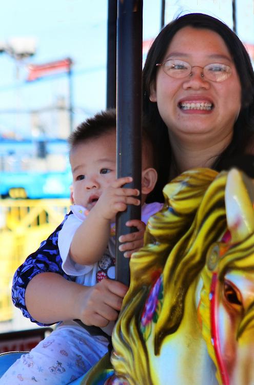 Merri-go-round at Coney Island.