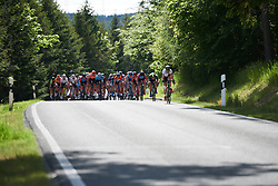 The peloton approach at Lotto Thüringen Ladies Tour 2019 - Stage 2, a 116 km road race in Schleiz, Germany on May 29, 2019. Photo by Sean Robinson/velofocus.com